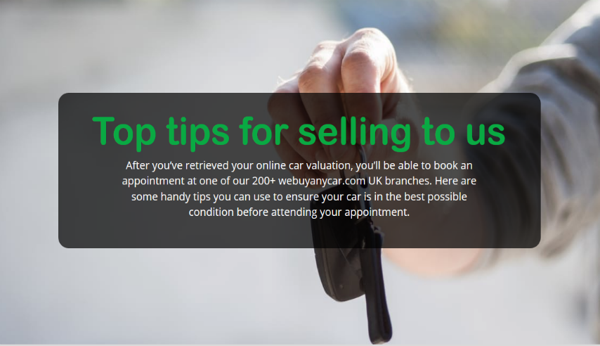 Top tips for selling to webuyanycar.com